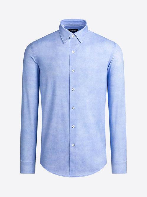 Bugatchi OohCotton Airbrush Printed Light Blue Shirt