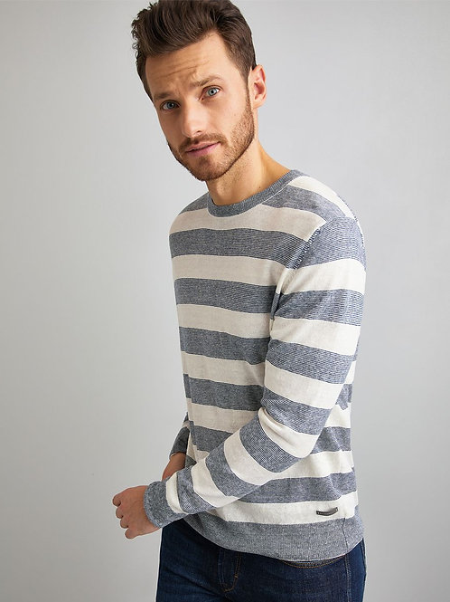 Baldessarini Linen Stripe Sweater