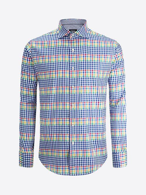 Bugatchi Cotton Multi Check Shirt