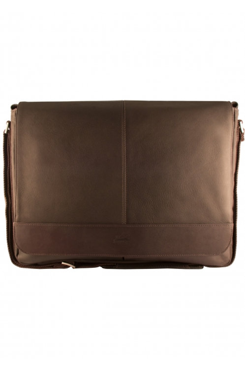 Mancini Laptop Brown Messenger Bag