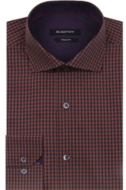 Bugatchi Mini Check Cotton Shirt