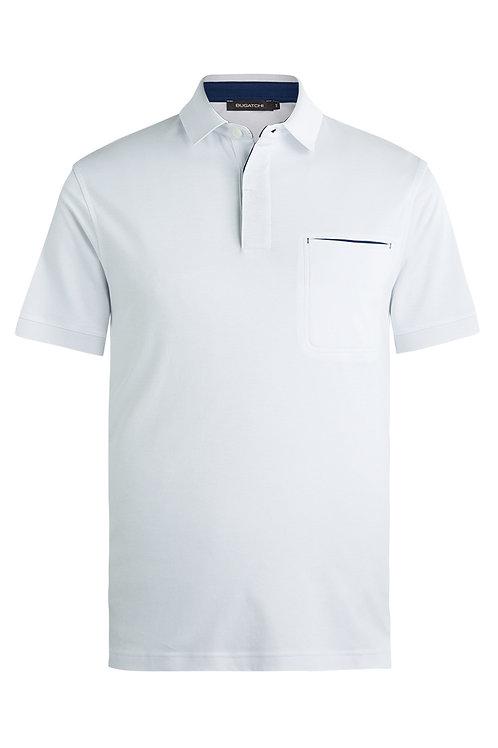 Bugatchi Short Sleeve Polo White