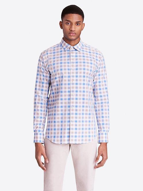 Bugatchi Buffalo Check Cotton Shirt
