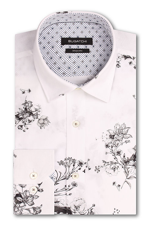 Bugatchi Classic Fit Floral Printed Shirt