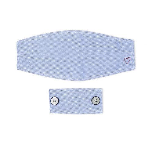 Samuelsohn Blue Royal Oxford Mask