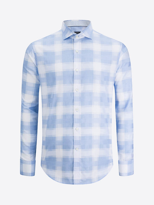 Bugatchi Cotton Windowpane Shirt