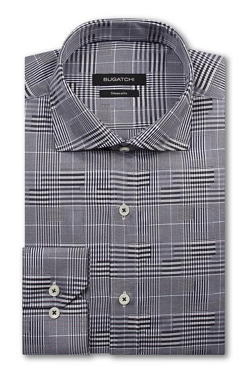 Bugatchi Jacquard Cotton Check Shirt