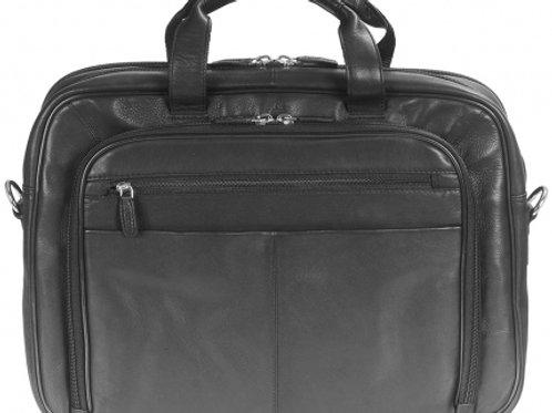 Mancini Double Compartment Briefcase Black