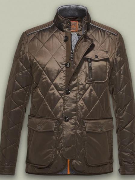 Handstich Quilted Kent Jacket Olive