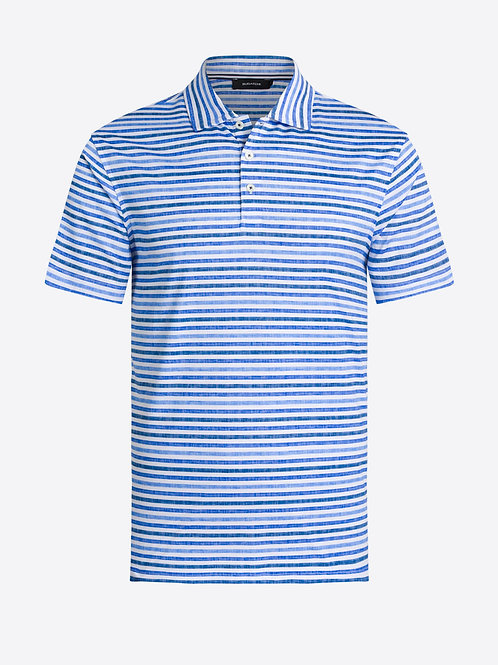 Bugatchi Short Sleeve Stripe Polo