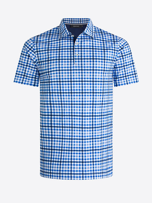 Bugatchi Short Sleeve Check Polo