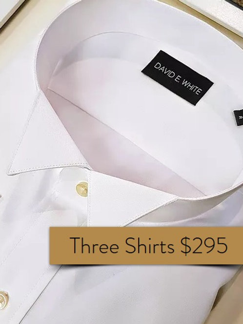 3 Men's Court Shirts French Cuff