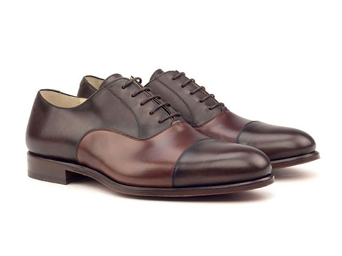 David E. White Two Tone Oxford Cap Toe