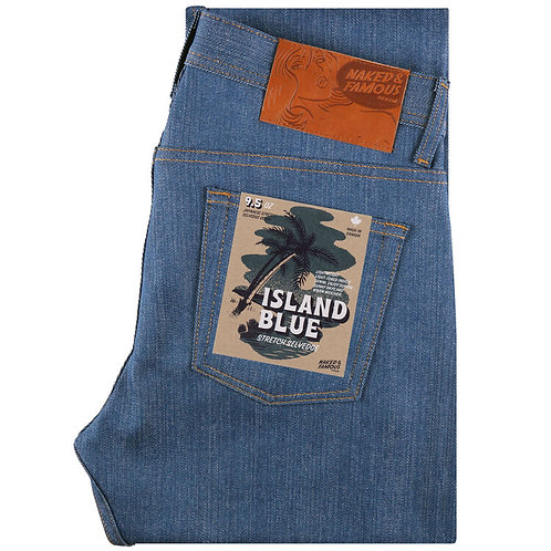 Naked & Famous Super Guy Island Blue Stretch Selvedge
