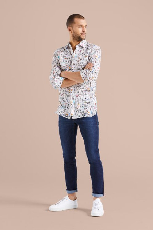 Van Laack Exclusive Pure Soft Linen Printed Shirt