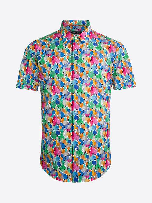 Bugatchi Short Sleeve Floral Print Shirt