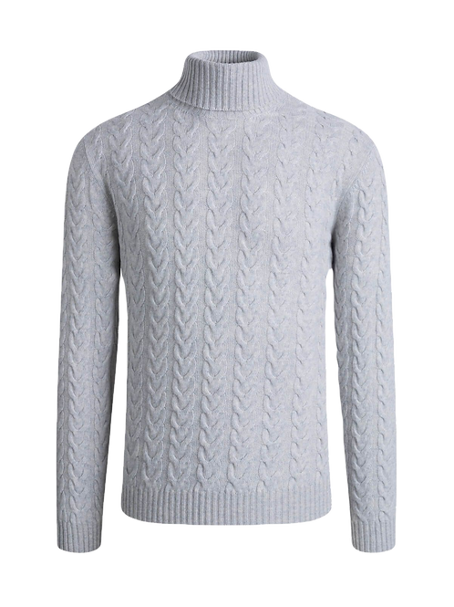 Bugatchi Cable Knit Turtle Neck