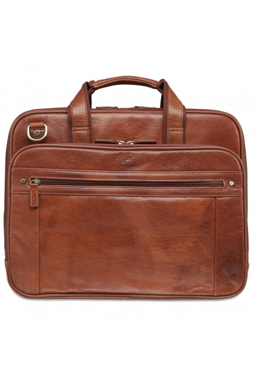 Mancini Double Compartment Briefcase for 15.6'' Laptop / Tablet
