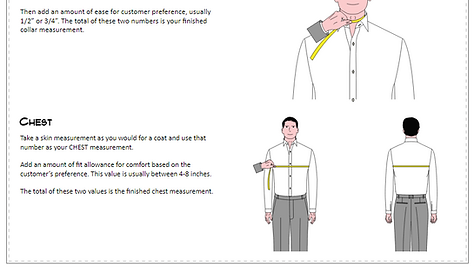 SHIRT NECK MEASUREMENT