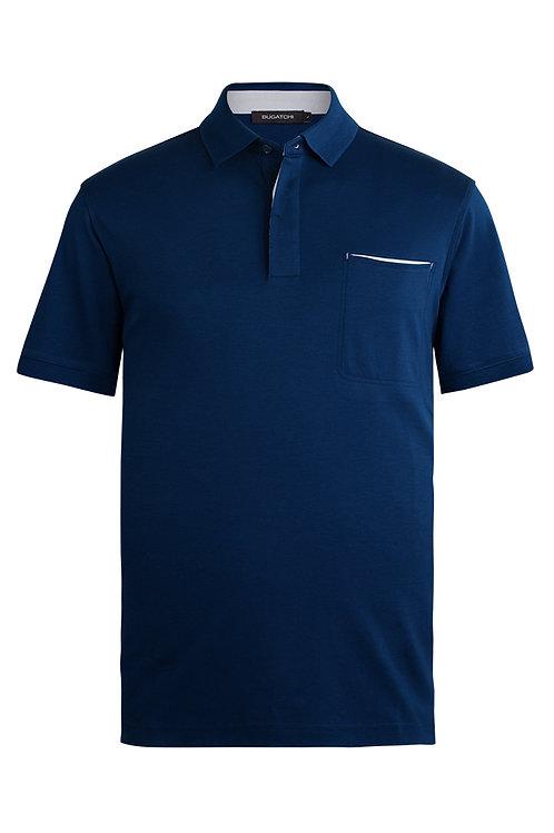 Bugatchi Short Sleeve Polo Navy