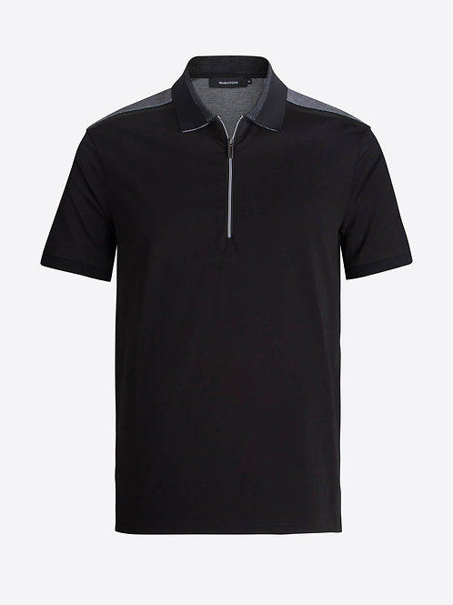 Bugatchi Short Sleeve Quarter Zip Polo