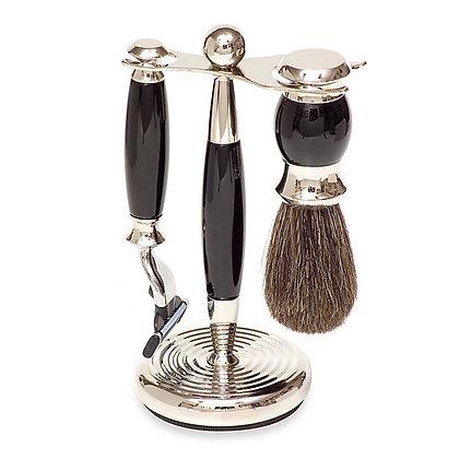 Shave Set 3 Piece Black