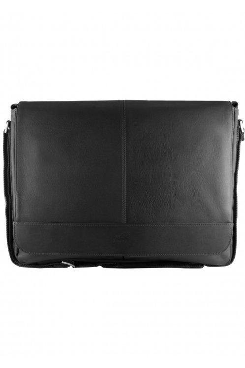 Mancini Laptop Black Messenger Bag