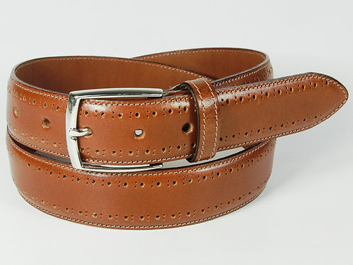 Benchcraft Brogue Leather Belt Tan