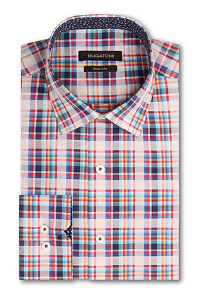 Bugatchi Plaid Cotton Shirt