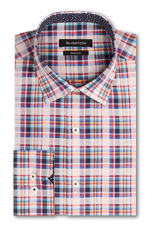 Bugatchi Plaid Cotton Shirt