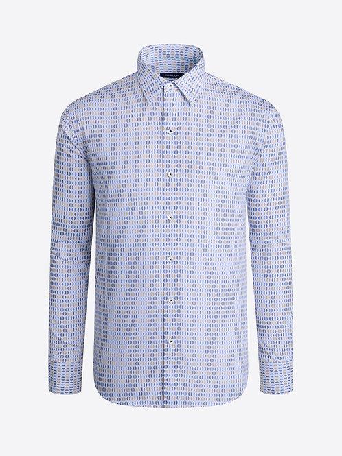 Bugatchi Half Circle Cotton Shirt