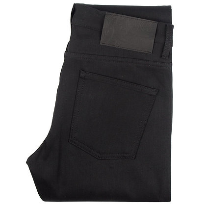 Naked & Famous Weird Guy Solid Black Selvedge