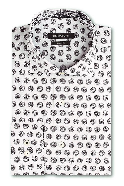 Bugatchi Abstract Circles Printed Cotton Shirt