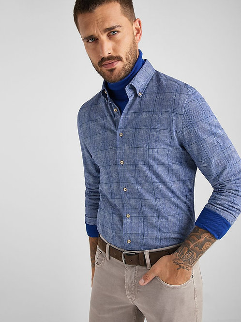 Baldessarini Cotton Knit Check Shirt