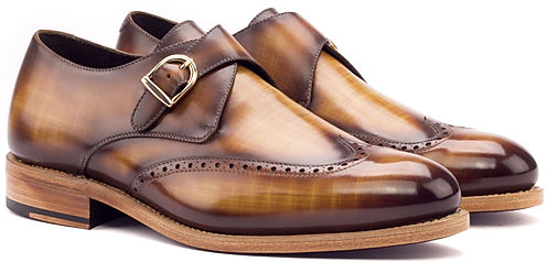 Single Monk Goodyear Welted - Patina Med