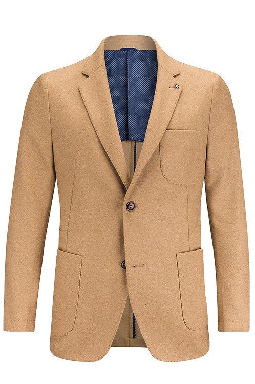 Bugatchi Wool Flannel Blazer Camel
