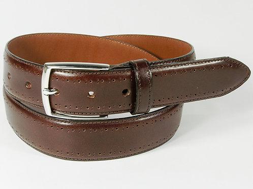 Benchcraft Brogue Leather Belt Brown