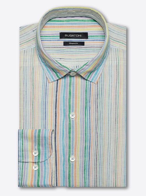 Bugatchi Stripe Linen Shirt