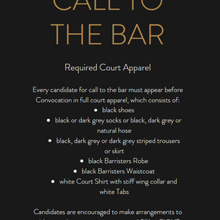 Call To The Bar Packages