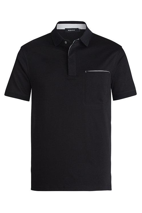 Bugatchi Short Sleeve Polo Black