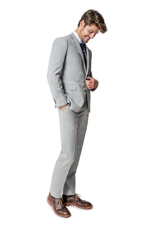 Paul Betenly Ronaldo Light Grey Suit