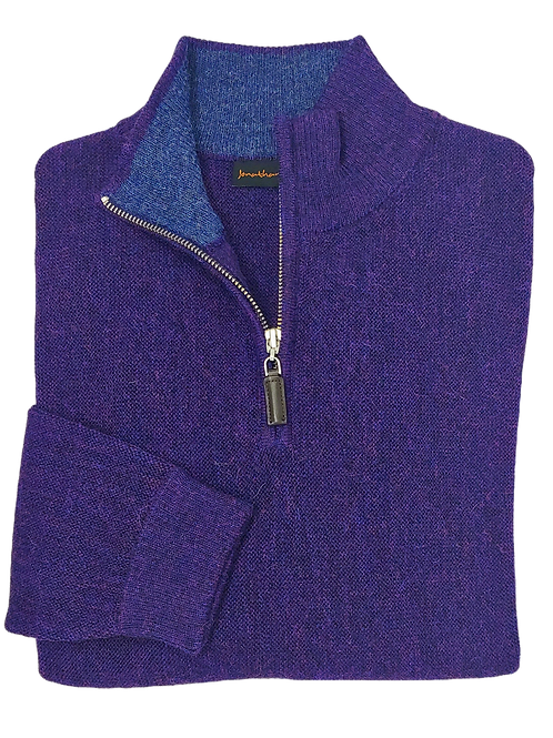 Jonathan MacIntosh Half Zip Alpaca Sweater