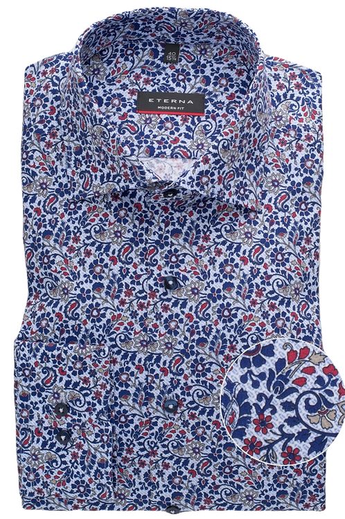 Eterna Printed Dress Shirt