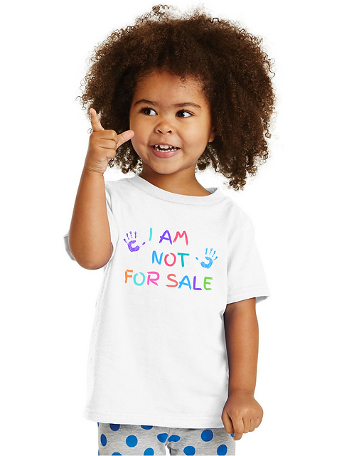 I AM NOT FOR SALE KIDS TEE