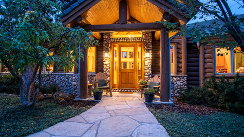 Twilight exterier front entry