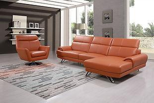 Latina L Shape + Swivel Chair - Orange.j