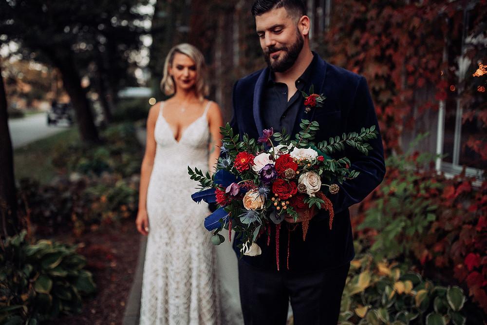Amanda jen photography wedding Starline factory Harvard il willow design
