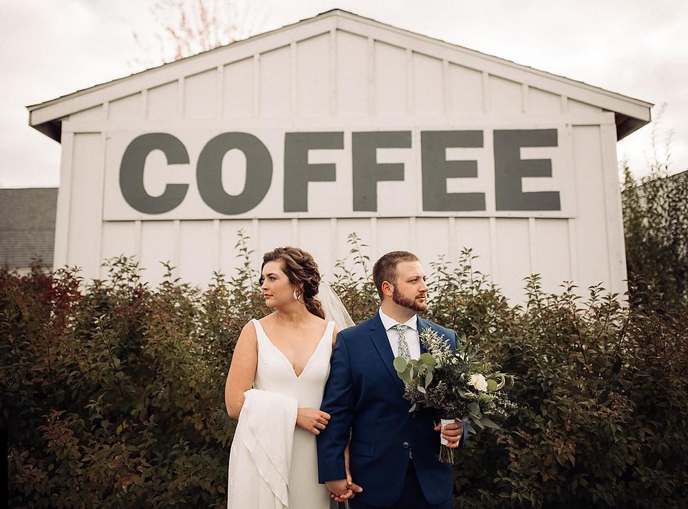wedding photography boxed and burlap delavan wi bride and groom