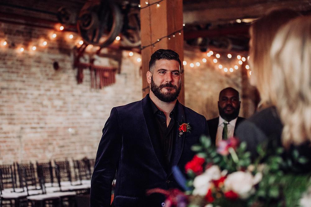 Amanda jen photography wedding Starline factory Harvard il