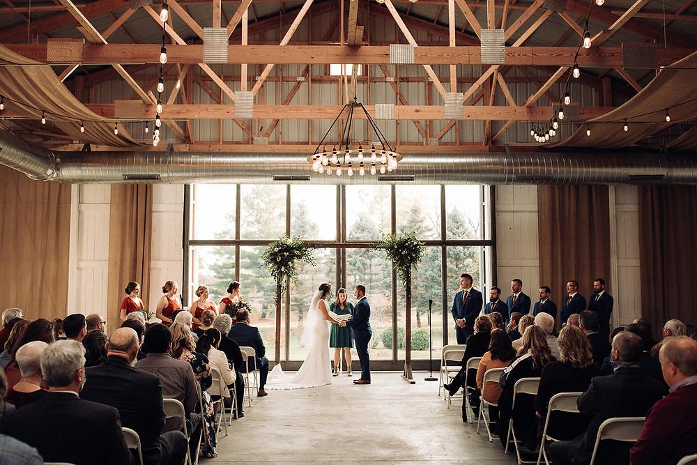 wedding ceremony boxed and burlap delavan wi